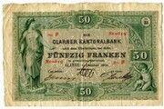 50 francs (Glarner Kantonalbank) – avers