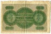 50 francs (Glarner Kantonalbank) – revers