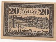 20 Heller (Gmunden) -  avers