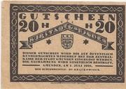 20 Heller (Gmunden) -  revers