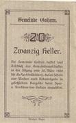 20 Heller (Goisern) -  revers
