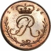 ¼ Ackey - George III (Pattern strike) – avers