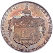 ½ Ackey - George III (essai) – revers