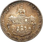 ¼ Ackey - George III – revers