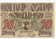 50 Pfennige (Goldap) – avers