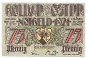 75 Pfennige (Goldap) – avers