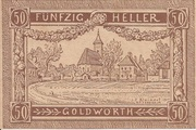 50 Heller (Goldwörth) -  avers