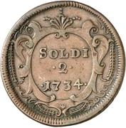 2 soldi - Karl VI – revers