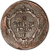 2 soldi - Franz II – revers