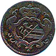 ½ soldo Leopold II – avers