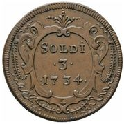 3 soldi - Franz II – revers