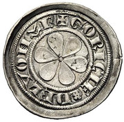 1 denier Albert II (Lienz) – revers