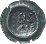 1 Pfennig (Hohlpfennig; Straubenpfennig) – avers