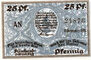 25 Pfennig (Oberhof) – avers
