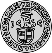 1 sølvmønt Frédéric II (Visby) – avers