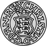1 hvid Christian III (Copenhagen) – avers