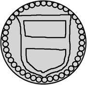 1 penning Frédéric I (Visby) – avers