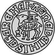 1 hvid Christian I (Visby; court drapeau) -  avers