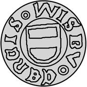 1 hvid Christian I (Visby; ram marchant à gauche sans drapeau) – avers