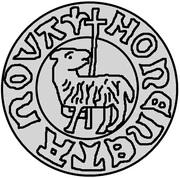 1 hvid Christian I (Visby; ram marchant à gauche sans drapeau) – revers