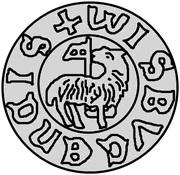 1 hvid Christian I (Visby; ram marchant à droite) – revers
