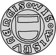 1 hvid Christian I (Visby; ram marchant à droite) – avers