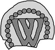 1 penning (Visby; pas de symboles) – revers