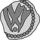 1 penning (Visby; point ci-dessous) – revers