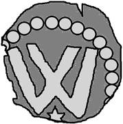 1 penning (Visby; étoile ci-dessous) – avers