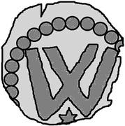 1 penning (Visby; étoile ci-dessous) – revers