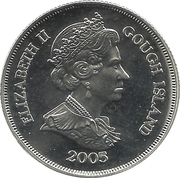 1 couronne Elizabeth II (Île Gough; cupronickel) - Jour de la victoire – avers
