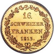 16 francs – revers