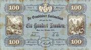 100 francs (Graubündner Kantonalbak) – avers