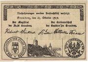 10 Mark (Stadt und Landkreis Graudenz) – avers