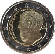 2 euros Académie de Platon -  avers