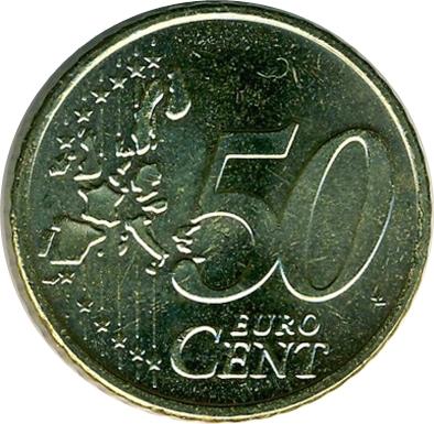 50 Cents Deuro 1ère Carte Grèce Numista