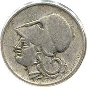 50 lepta (République) – avers