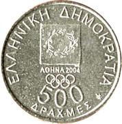500 drachmes Jeux Olympiques (République) – avers