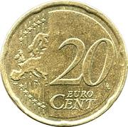 20 cents d'euro (2e carte) – revers