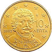 10 cents d'euro (1ère carte) – avers
