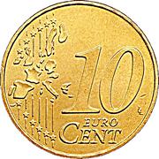 10 cents d'euro (1ère carte) – revers