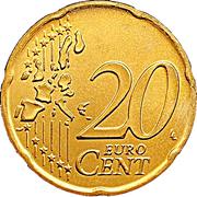 20 cents d'euro (1ère carte) -  revers