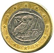 1 euro (1ère carte) -  avers
