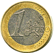 1 euro (1ère carte) -  revers