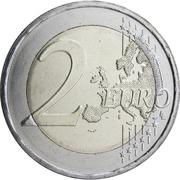 2 euros Andreas Calvos – revers