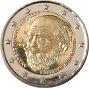 2 euros Andreas Calvos – avers