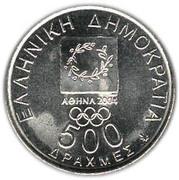 500 drachmes Jeux Olympiques (République) -  avers