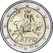 2 euros (2e carte) – avers
