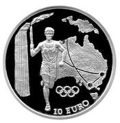 10 Euro (Olympics - Australia) – revers