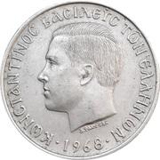 10 drachmai (Royaume - Constantin II) -  avers